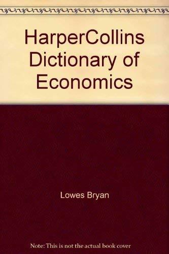 9780062715043: HarperCollins Dictionary of Economics