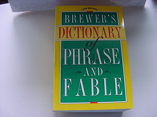 9780062720221: Brewer's Dictionary of Phrase and Fable