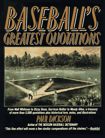 9780062720252: Baseball's Greatest Quotations