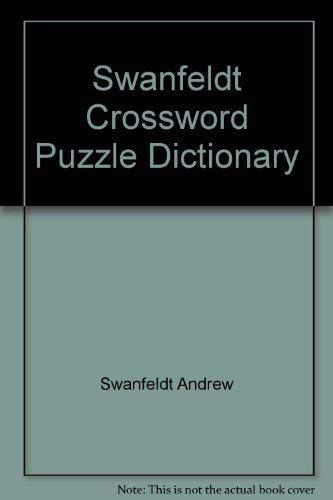 9780062720344: Swanfeldt Crossword Puzzle Dictionary