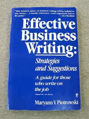 9780062720481: Effective Business Writing: Strategies and Suggestions