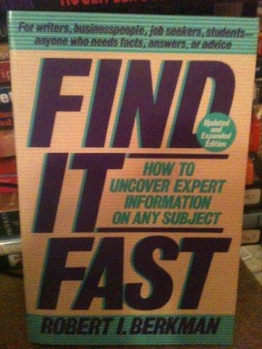 9780062731036: Find It Fast