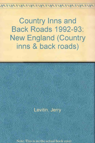 9780062731494: Country Inns and Back Roads 1992-93: New England (Country inns & back roads)