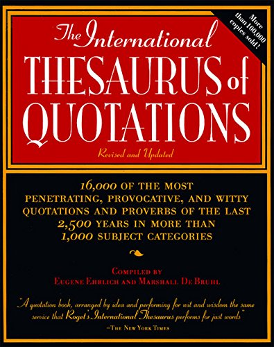 9780062733733: International Thesaurus of Quotations
