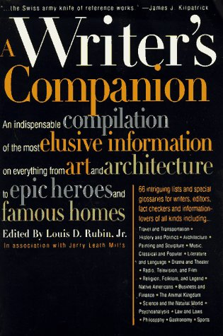 9780062734723: A Writer's Companion : A Handy Compendium of Useful but Hard-To-Find Information on History, Literature, Art, Science, Travel, Philosophy and Much More