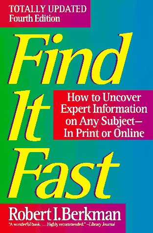 9780062734730: Find It Fast: How to Uncover Expert Information on Any Subject