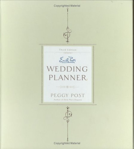 Emily Post's Wedding Planner (0062735209) by Peggy Post