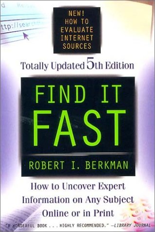 9780062737472: Find It Fast 5th Edition: How to Uncover Expert Information on Any Subject Online or in Print (Find It Fast: How to Uncover Expert Information on Any Subject Online or in Print)