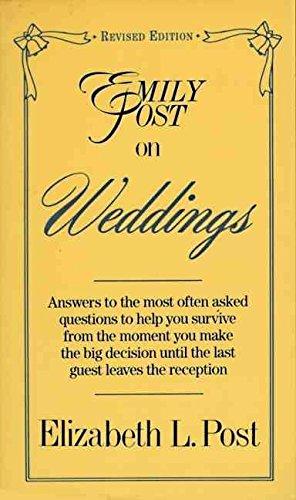 9780062740014: Emily Post on Weddings