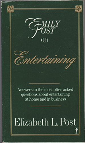 9780062740069: Emily Post on Entertaining
