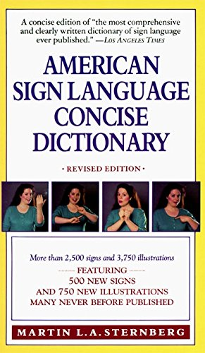 9780062740106: American Sign Language Concise Dictionary: Revised Edition