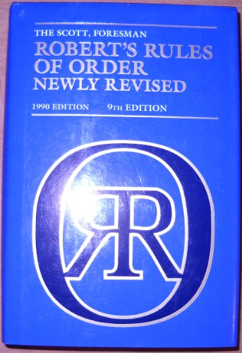 9780062750020: Robert's Rules of Order Newly Revised (9th Edition)
