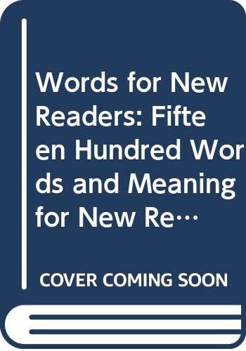 9780062750082: Words for New Readers: 1500 Words and Meanings for New Readers