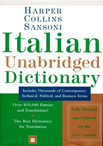 9780062755162: Harper Collins Sansoni Italian Unabridged Dictionary