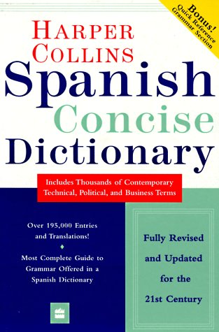 9780062760579: Harper Collins Spanish Dictionary:  Spanish-English  English-Spanish (Concise Edition)
