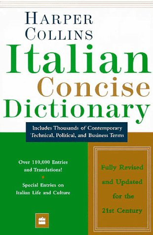 9780062760593: Dic Harper Collins Italian Dictionary: Italian-English, English-Italian : Concise Edition