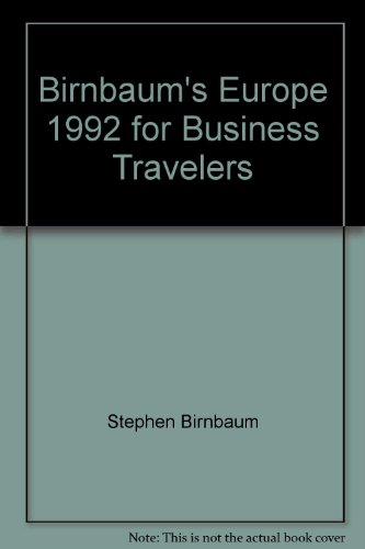9780062780218: Birnbaum's Europe 1992 for Business Travelers