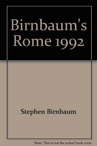 9780062780287: Birnbaum's Rome 1992