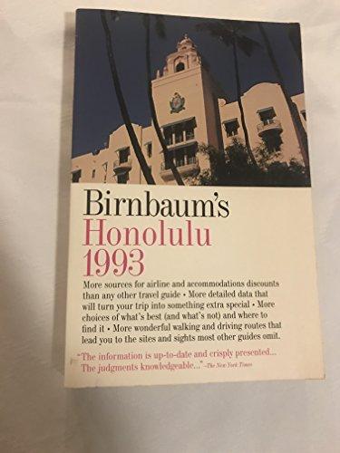 9780062780645: Birnbaum's 93 Honolulu (Birnbaum's Honolulu)