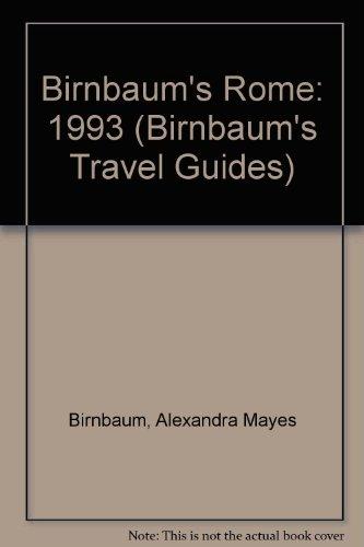 9780062780782: Birnbaum's Rome 1993