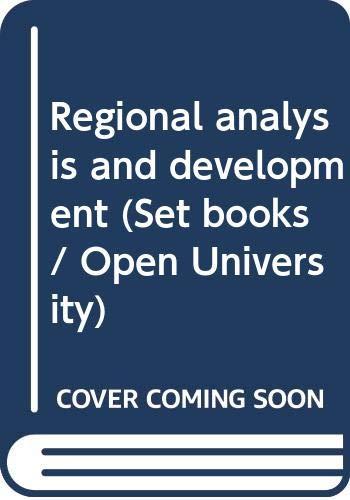 9780063180123: Regional analysis and development (Open University set books)