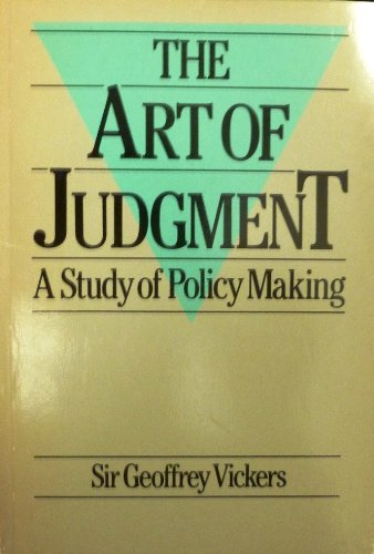 9780063182714: The Art of Judgment: Study of Policy Making