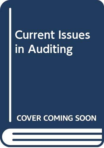 9780063183018: Current Issues in Auditing
