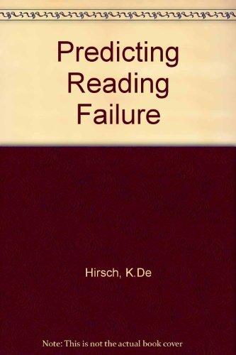 9780063361508: Predicting Reading Failure