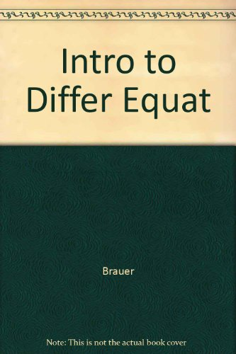 9780063501287: Intro to Differ Equat