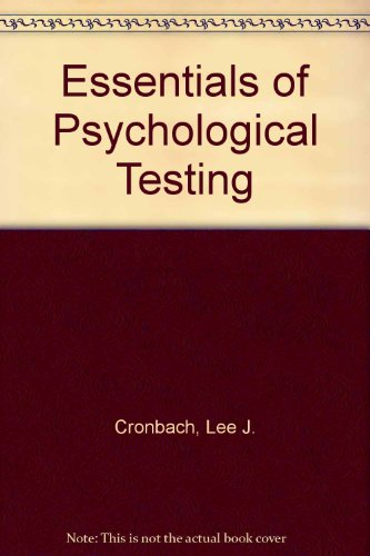 9780063502499: Essentials of Psychological Testing