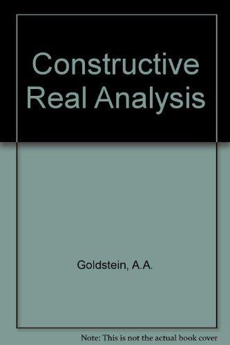 9780063561847: Constructive Real Analysis