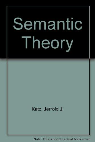 9780063562424: Semantic Theory