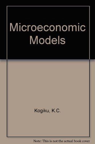 9780063562547: Microeconomic Models