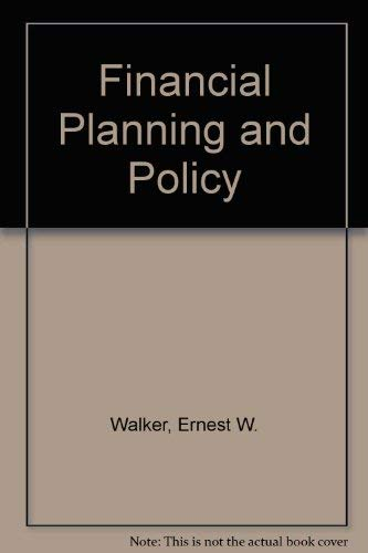 9780063565258: Financial Planning and Policy