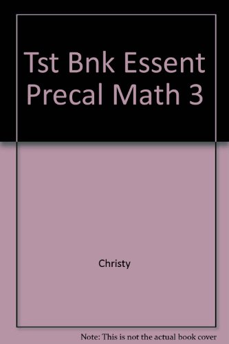9780063611986: Tst Bnk Essent Precal Math 3