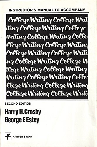9780063614321: Instructor's Manual to Accompany College Writing