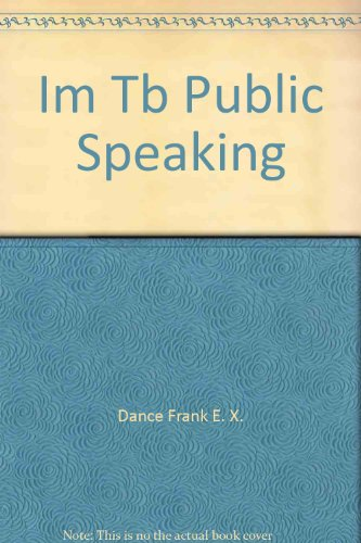 9780063615625: Instructor's manual/test bank to accompany Public speaking