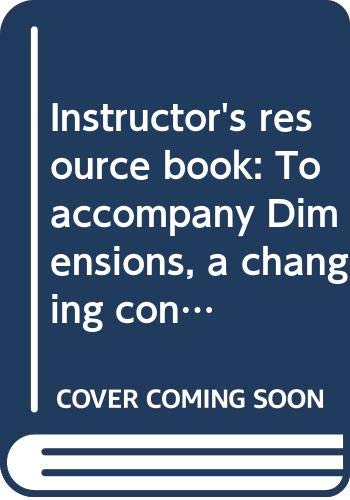 9780063634374: Instructor's resource book: To accompany Dimensions, a changing concept of health