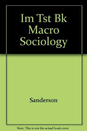 9780063658264: Im Tst Bk Macro Sociology