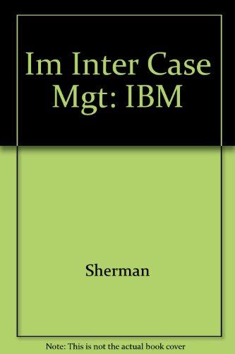 9780063660632: Im Inter Case Mgt: IBM