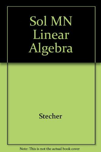 9780063664098: Sol MN Linear Algebra