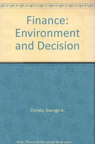 9780063825031: Finance: Environment and Decision