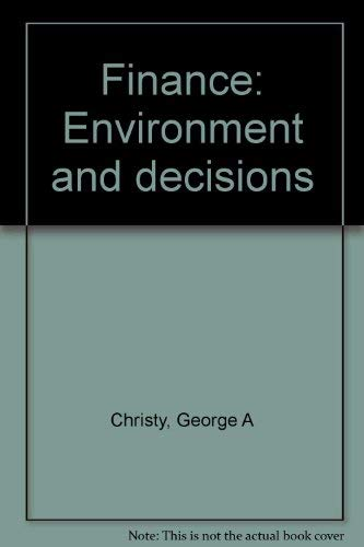 9780063825055: Finance: Environment and decisions