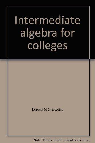 9780063825390: Intermediate algebra for colleges