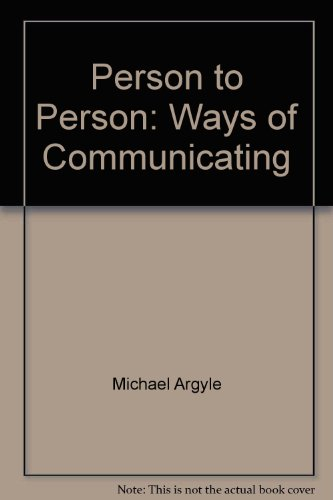 9780063847460: Person to Person: Ways of Communicating