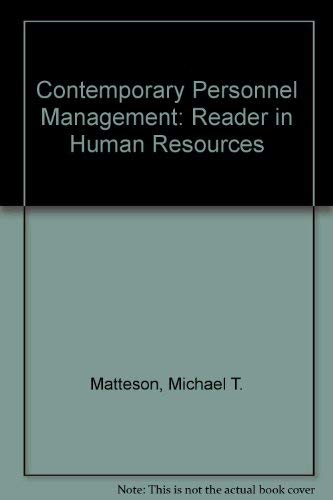 9780063853867: Contemporary Personnel Management: Reader in Human Resources
