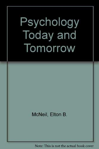 9780063854307: Psychology Today and Tomorrow