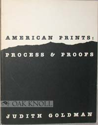 9780064301169: American Prints: Process & Proofs