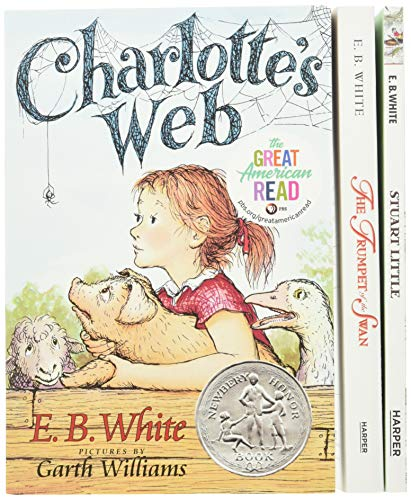 9780064409643: E. B. White Box Set: Charlotte's Web, Stuart Little, The Trumpet of the Swan