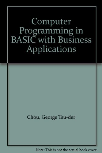 9780064537162: Computer Programming in BASIC with Business Applications